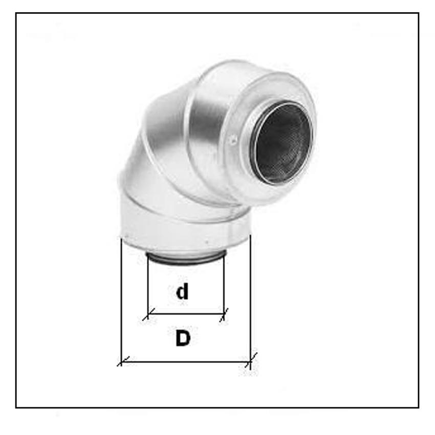 Codo silenciador 50 y 100mm CSC