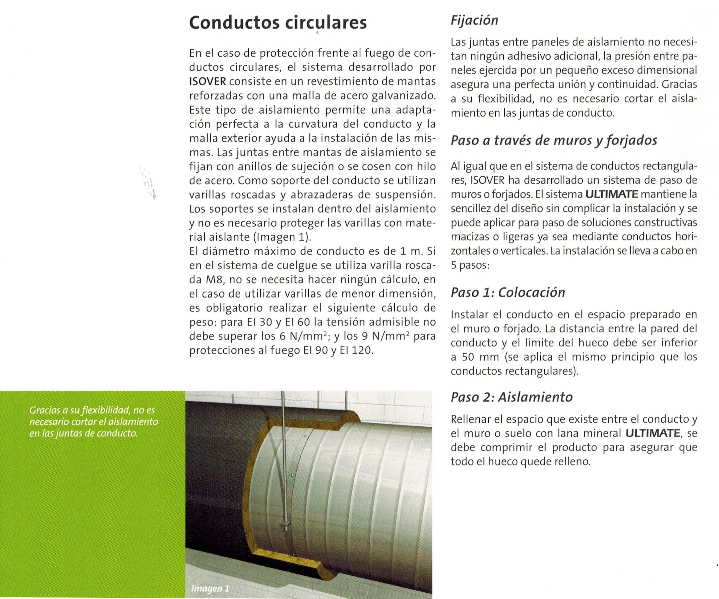 Aplicaci n a conducto circular de chapa fergotub - Conductos de chapa ...