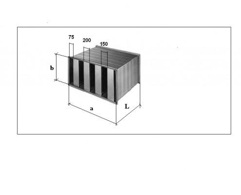 Silenciador rectangular SR 200.150