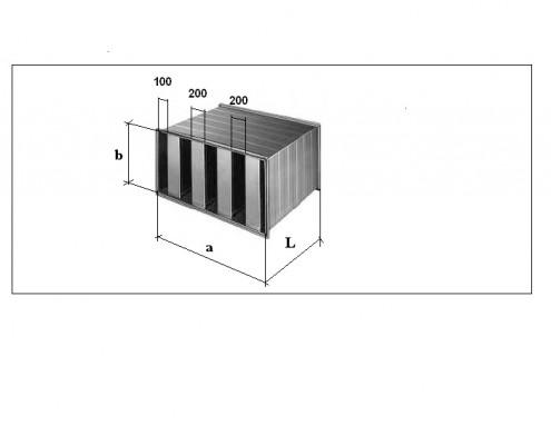 Silenciador rectangular SR 200.200