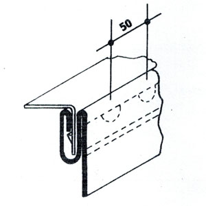 Unión longitudinal Clip