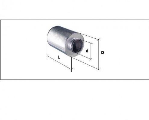 Silenciador circular 100mm SCG