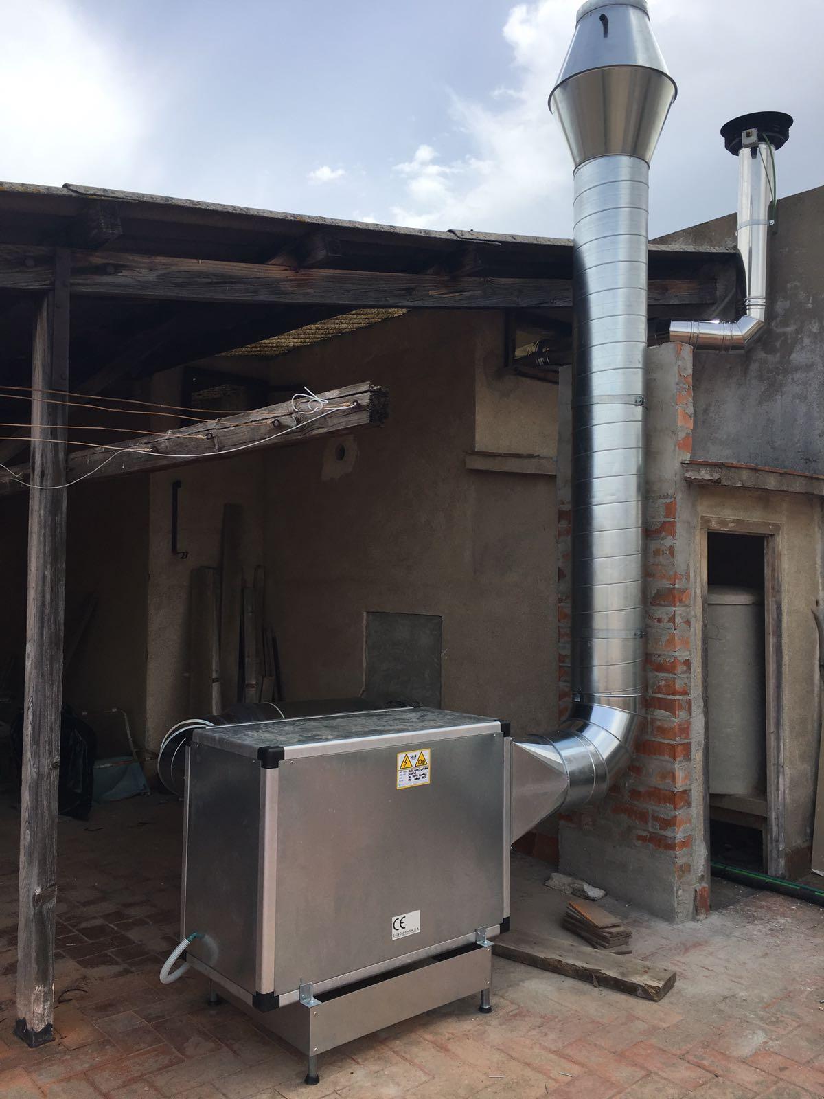 Fume Extraction Hood Industrial Kitchen Fergotub Vents